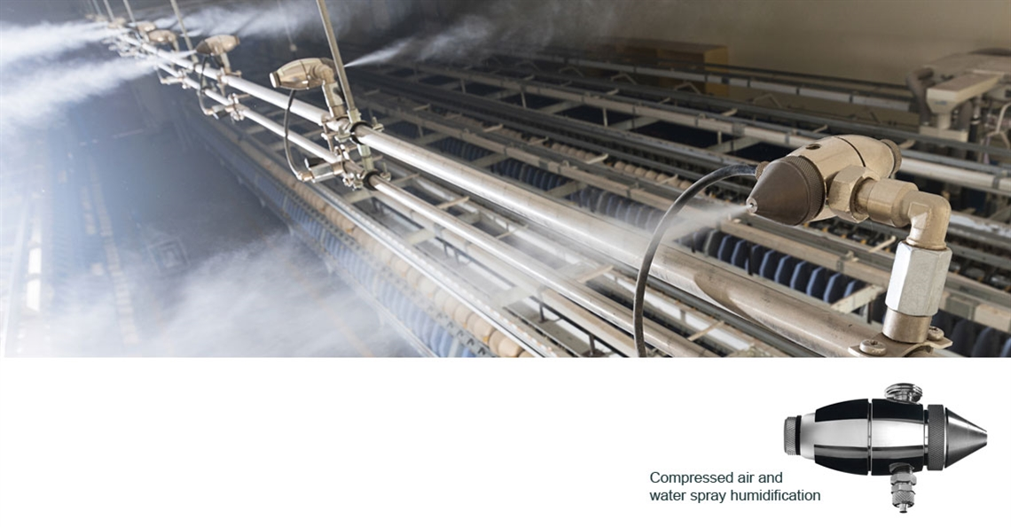 Humidifiers at VMT Spinning in India