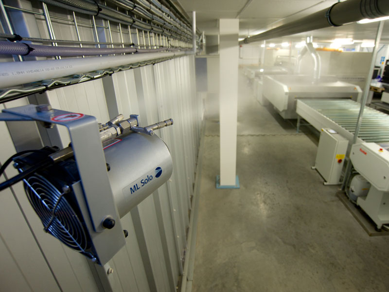 ML Solo humidifier at Polestar printers