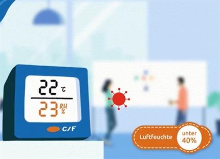 Januar 2021: Erklärvideo - Wie eine Mindestluftfeuchtigkeit von 40 bis 60% schützt