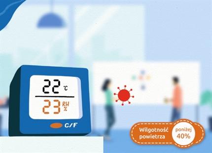 Wideo minimalna wilgotność powietrza 40-60%