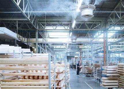 Nordan: Optymalna wilgotność powietrza w przemyśle drzewnym