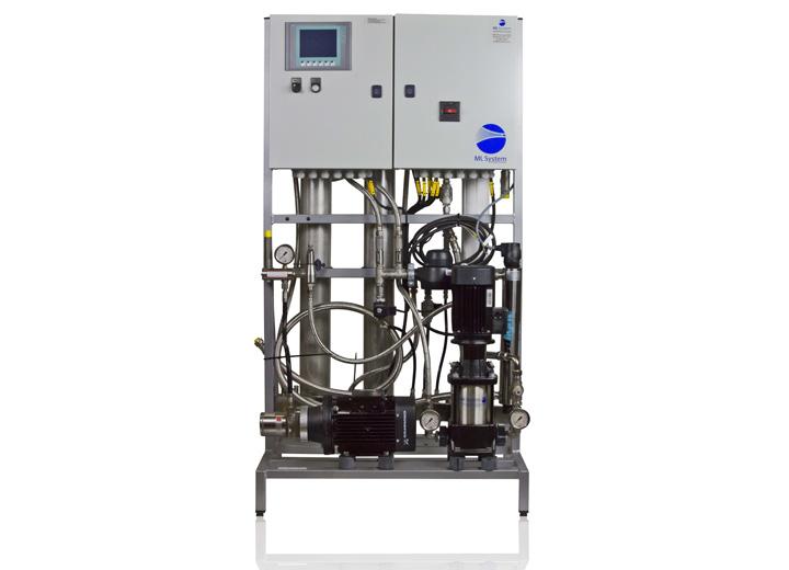 Pumpestation med mulighed for blødgøring og UV-sterilisering mv.