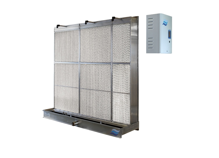 Low energy and control In-duct evaporative humidifier