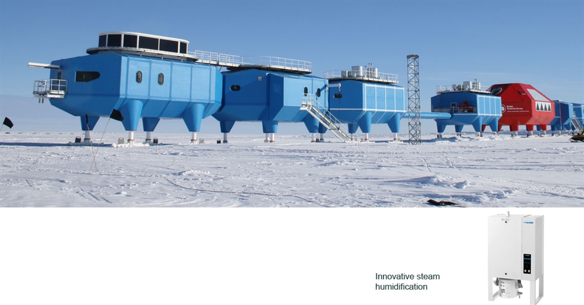 Condair humidifiers in Antarctica