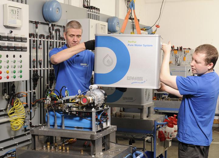 NanoFog användare hygieniska vattenrening och pumpmoduler