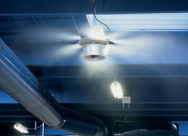 Använder RO-vatten för att säkra dammfri luftfuktning