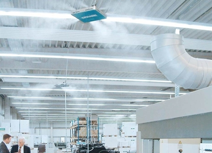 Air humidification in industry