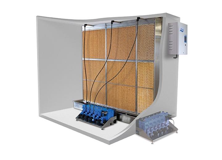 Den hydrauliska enheten kan monteras inne i eller utanför ventilationskanalen