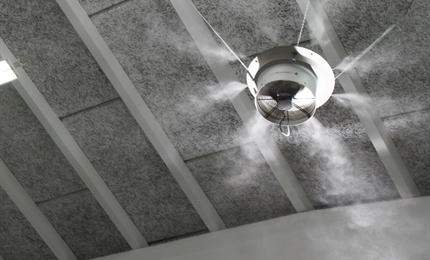 Adiabatische luchtbevochtiging, voordelen