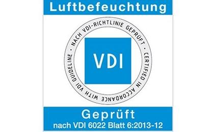 Sichere Luftbefeuchtung durch VDI Zertifizierung