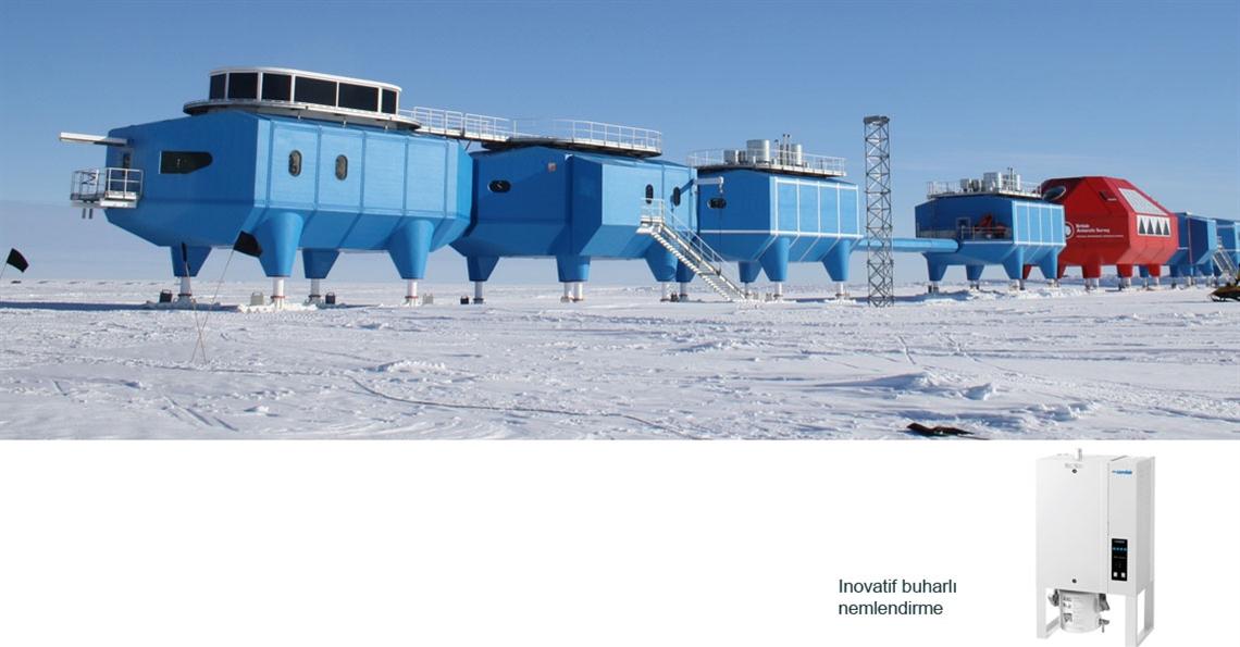 Antartika'da sağlık için nemlendirme