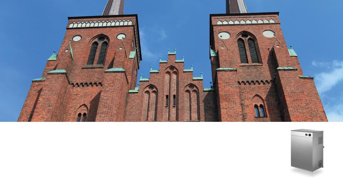 Roskilde domkirke använder sig utav befuktning från Condair