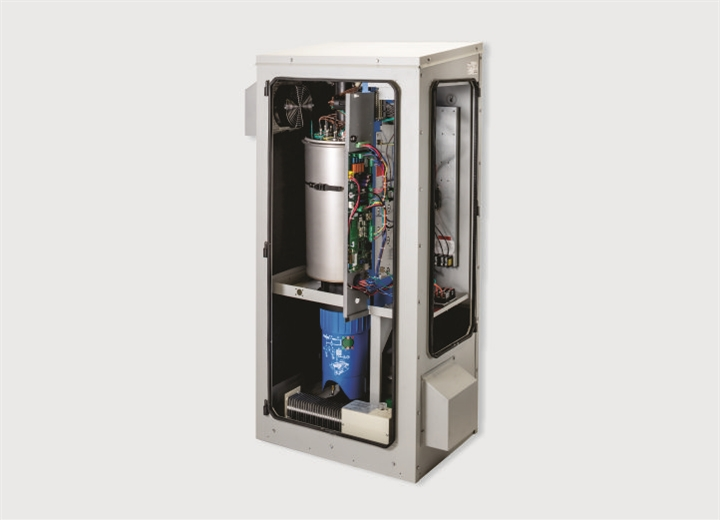 Internal components of outdoor humidifier
