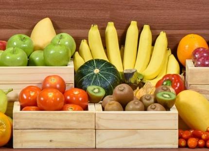De opslag van voedsel en in supermarkten