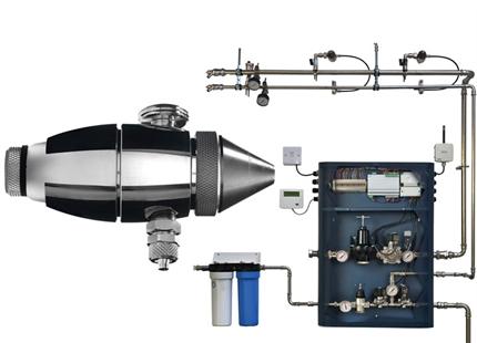 Humidificador spray JetSpray de aire comprimido y agua