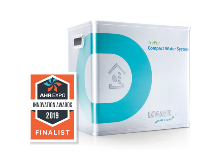 3 in 1 DRAABE TrePur with the 2019 AHR innovation finalist award