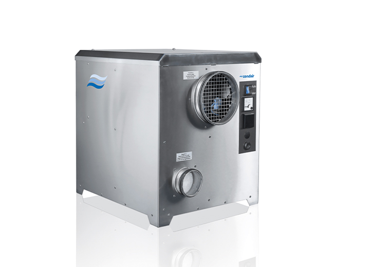 Bevat standaard RVS behuizing en lage energie EC ventilatoren.