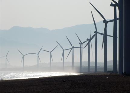 Luftbefugtning i vindmølleproduktion