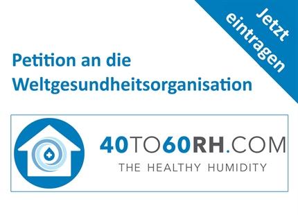 Mai 2020: Condair unterstützt Luftfeuchte Petition an die WHO