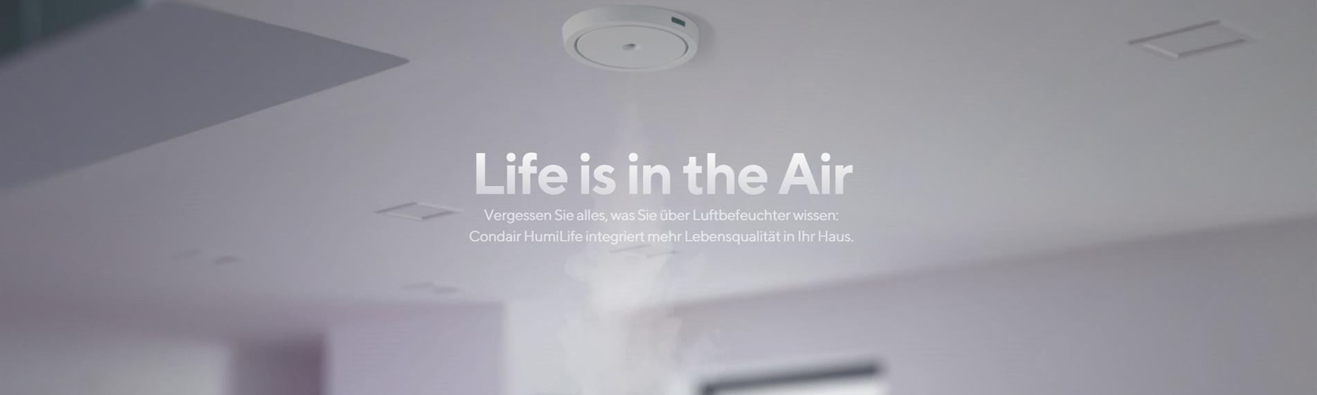 Condair HumiLife - Luftbefeuchtung individuell auf Ihr Zuhause angepasst