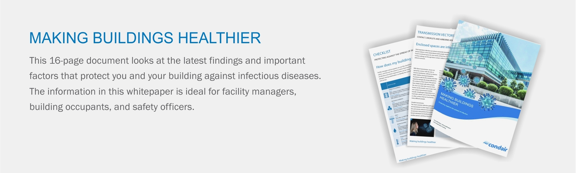 Condair's white paper on how to make buildings healthier