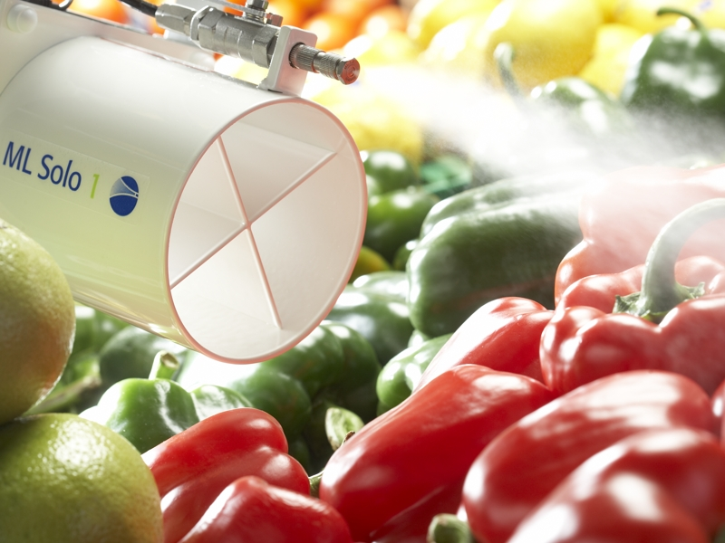 Luftbefugter til befugtning af frugt og grønt afdelinger