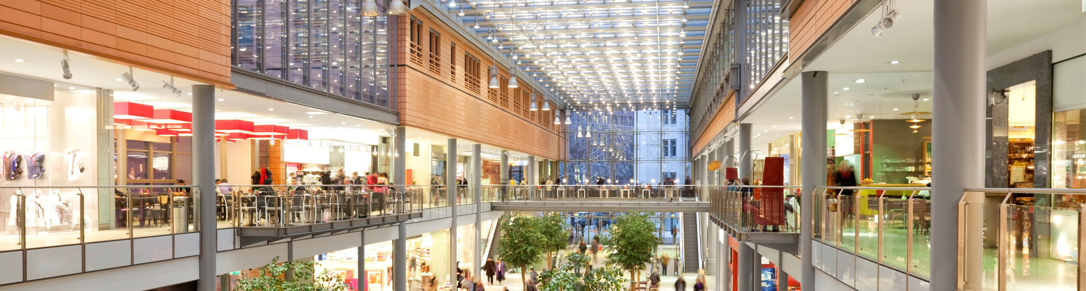 Large indoor shopping mall