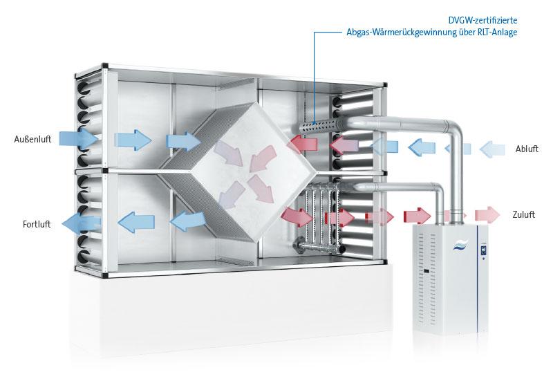 Darstellung Dampf-Luftbefeuchter im Einsatz