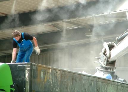 Luftbefeuchtung und Staubbindung