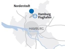 Neuer Standort am Hamburger Flughafen