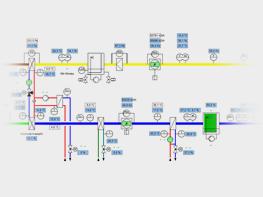 Betriebszustände eines RLT-Geräts zur Zuluftkonditionierung im Winterbetrieb. Die angesaugte Außenluft wird im Kreislaufverbundsystem vorgewärmt und mit dem Nacherhitzer auf die erforderliche Befeuchtereintrittstemperatur erhitzt. Die Sollwerte für Temperatur und Feuchte werden aus einer Enthalpieregelung bestimmt. Im Condair-Hybrid-Luftbefeuchter wird die Zuluft dann auf die erforderliche absolute Feuchte befeuchtet.