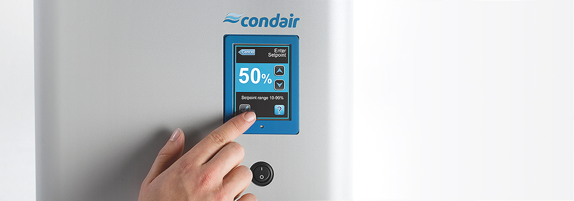 Condair touch screen control