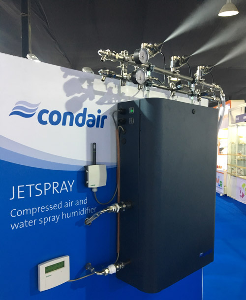 The JetSpray compressed air and water humidifier