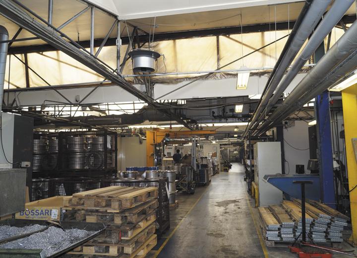 Køling ved aluminiums støberi