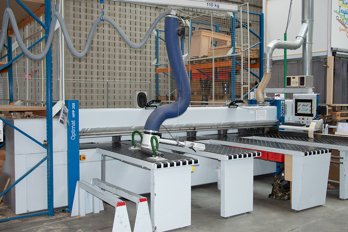 Machines in de productiehal