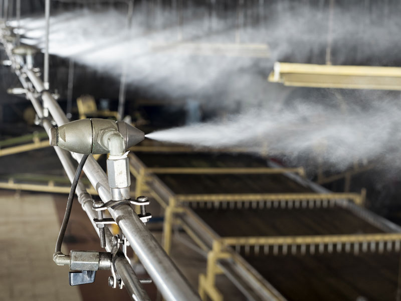JetSpray humidifier at tea factory