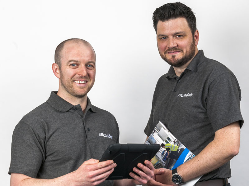 Left to right - Shaun Canham, Service Engineer & Colin Turnbull, Installation Manager