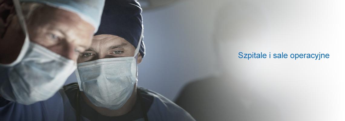 Szpitalach i salach operacyjnych