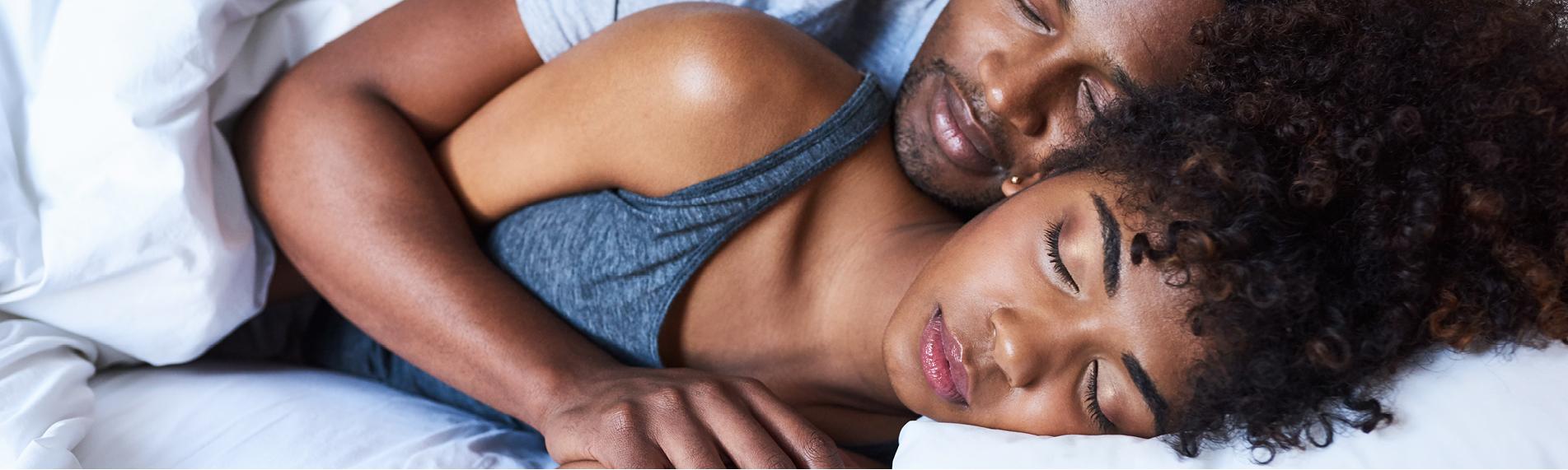 Women having a restful sleep