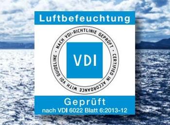 VDI-Zertifizierung für dezentrale Luftbefeuchtung