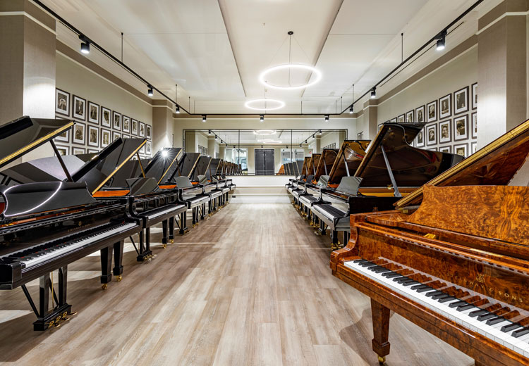 Condair's resistive steam (RS) humidifiers were specified and then installed in three rooms in Steinway's impressive London showroom