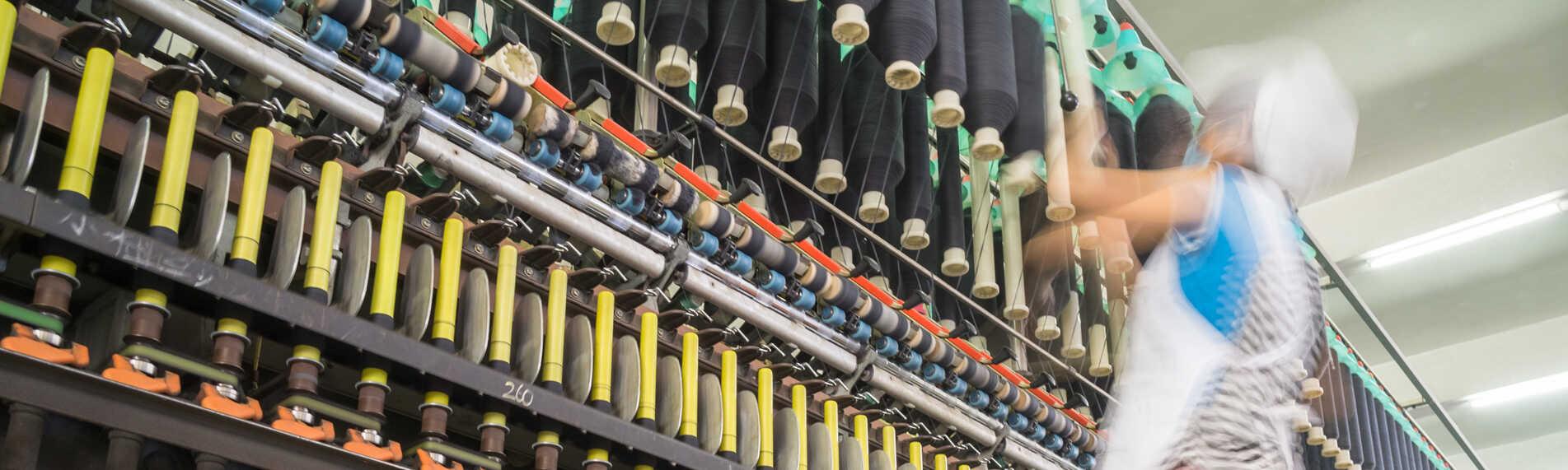 Befuktning och fuktreglering till textilproduktion