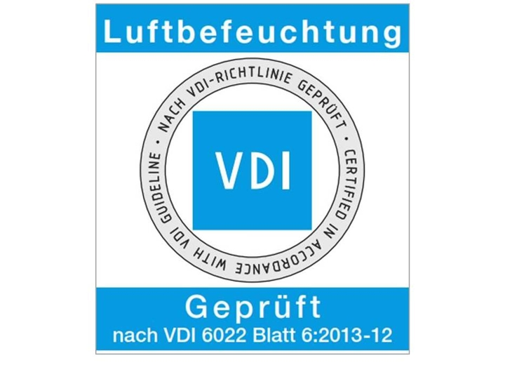 VDI certification for air humidification