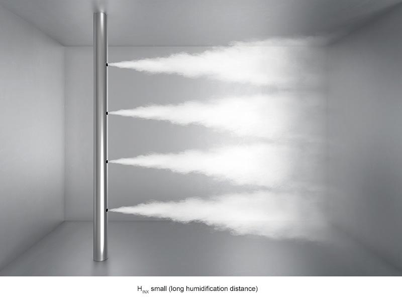 Fordeling af damp med lang fugtafstand