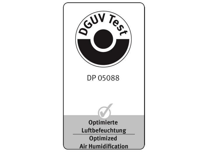 DGUV test mark for air humidification